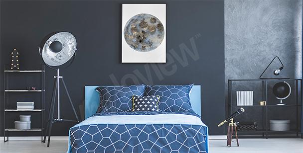 Pôster para o quarto com a lua
