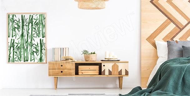 Pôster para o quarto com bambu