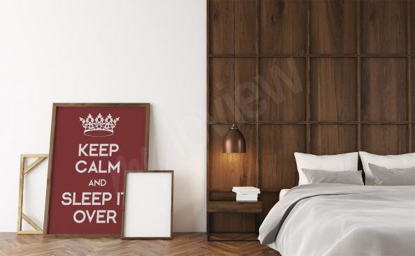 Pôster para o quarto com inscrições