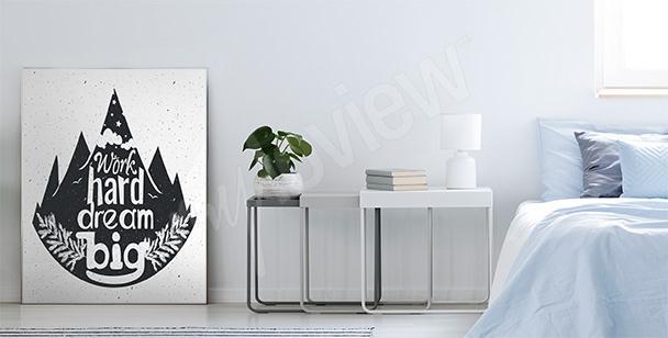 Pôster tipográfico com floresta
