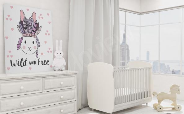 Qadro para quarto de criança com um coelho