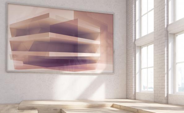 Quadro 3D para a sala de estar