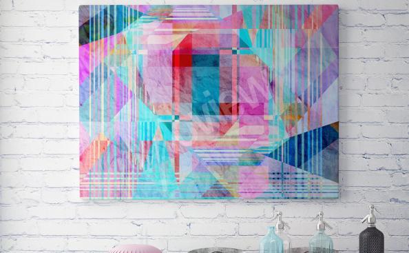 Quadro abstração colorida
