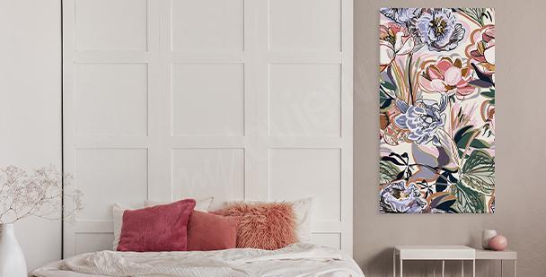 Quadro colorido floral style