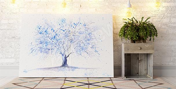 Quadro com uma árvore de inverno