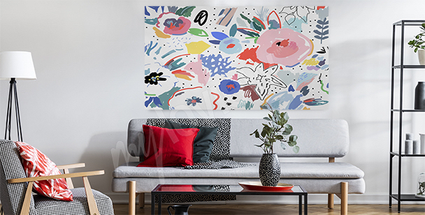 Quadro floral para a sala