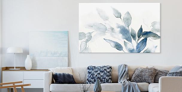 Quadro floral style em aquarela