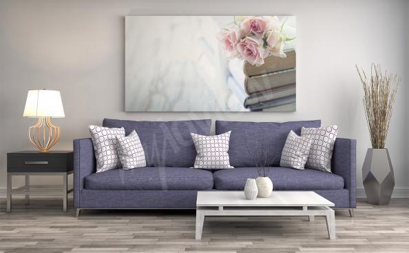 Quadro flores para a sala de estar