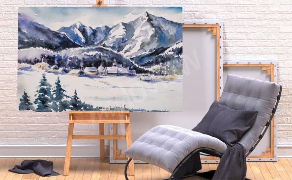 Quadro montanhas inverno