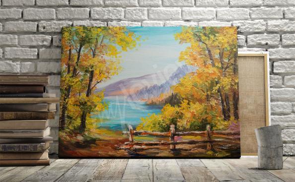 Quadro paisagem de outono