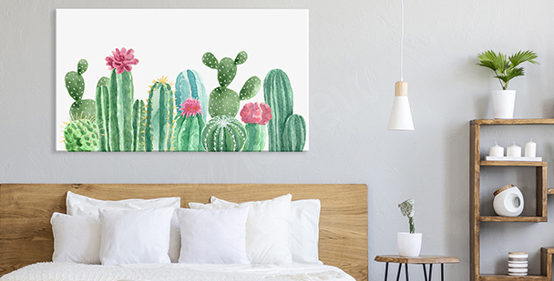 Quadro pastel floral style