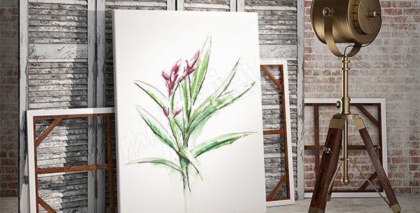 Quadro planta em estilo minimalista