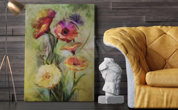 Quadros para a sala buquê de flores